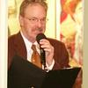 Burns Night: Louis Raymond singing, toward Conservatory