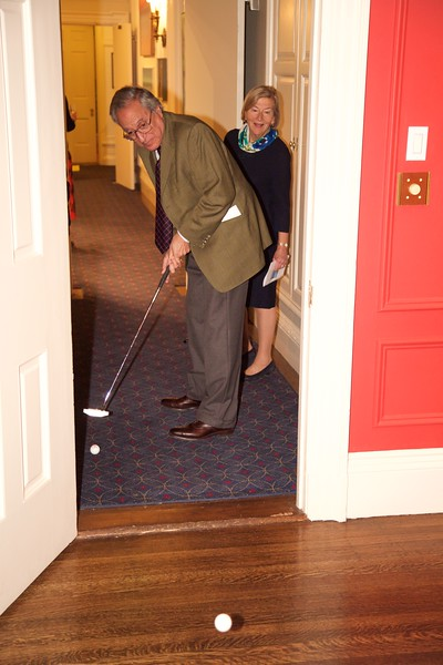 Burns Night: Driving through doorway on second floor on Hole 1
