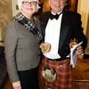 Burns Night: Lisa Bonneville and Ken Smith in lobby