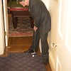 Burns Night: Ken Turino completing Hole 2 in second floor coatroom