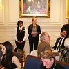 Burns Night: Staff listening to the address to the haggis in Dining Room