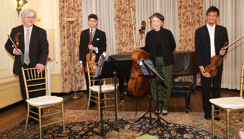 Club Night: Borromeo String Quartet: Bows after Mendelssohn String Quartet #2