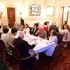 St Botolph Club: Roger Howlett giving toast, head and second table with Colin and family