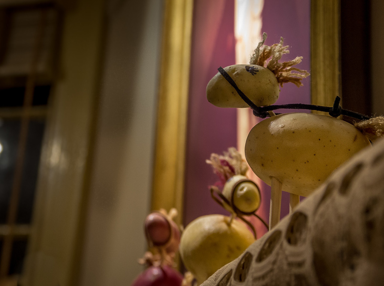 decorations made from potatoes