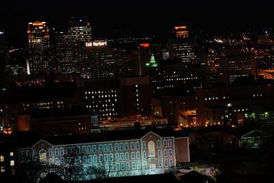 Birmingham Nightime Skyline