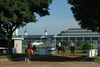 The Twin Spires of Churchill Downs beckon