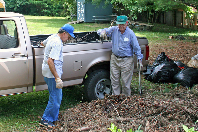 """Preparation for picnic gets started on Saturday June 21st when Bill gets a crew to """"clean up""""!"""