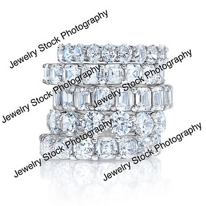 Diamond Eternity Wedding Band Stack Group 06
