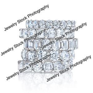 Diamond Eternity Wedding Band Stack Group 06