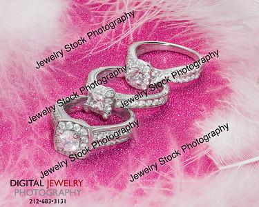3 Diamond Halo Ring Group White Feathers Lifestyle