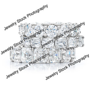 Diamond Eternity Wedding Band Stack Rings Group 08