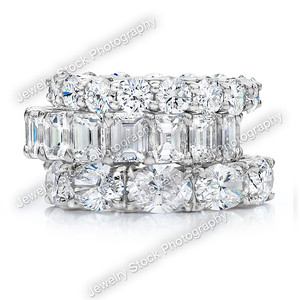 Diamond Eternity Wedding Band Ring Stack Group 09