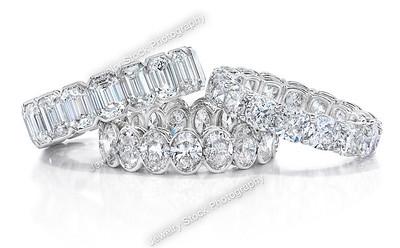 Eternity Diamond Ring Stack Group