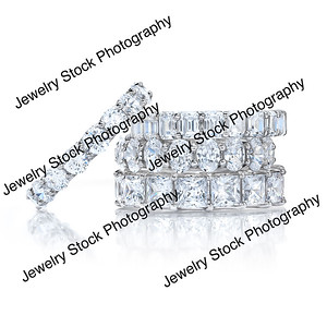 Diamond Eternity Wedding Band Group Stack 07