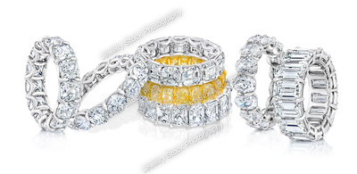 Diamond Eternity Wedding band Group Shot 2