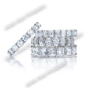 Diamond Eternity Wedding Band Group Stack 07