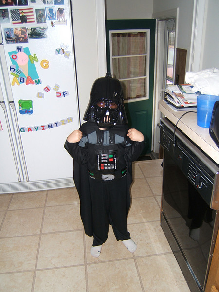 Halloween, Gavin was Darth Vador