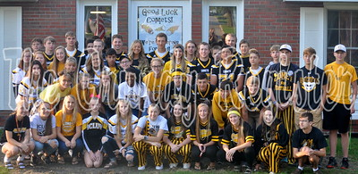 Fall sports athletes and cheerleaders gathered at Oakview Nursing Home in Conrad for a special breakfast with residents on Friday morning.