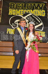 2017 Homecoming king Drew Carson and queen Madison Trinkle.