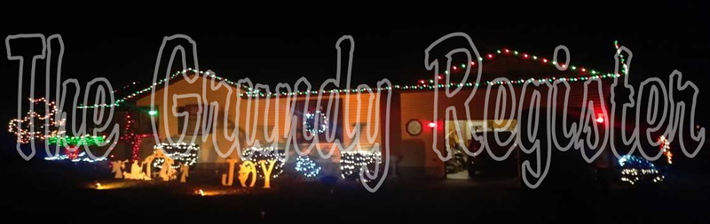 Chuck Friend was this year's residential winner of the Light Up Conrad contest.