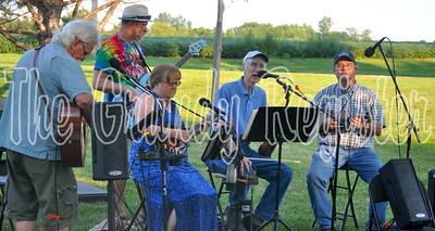 The Prairie Creek String Band returned to the annual FRB sweet corn feed to play bluegrass and folk standards.