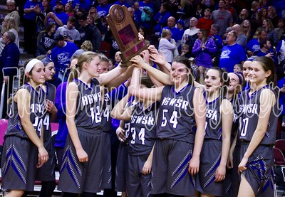 The AGWSR girls basketball team bowed out in the state quarterfinals in 2018 after a strong season in Class 1A, led by all-state performers Aubrie Fisher and Mandy Willems.