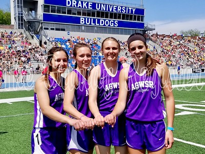 AGWSR's state runner-up 4x800 relay squad included Aubrie Fisher, Ali Gerbracht, Haley Bakker and Mandy Willems.