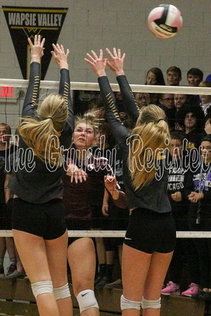 Grundy Center at BCLUW volleyball (10/03/19)