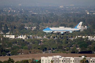 Presidential arrival