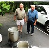 Bryan and his uncle Ron headed up the cooking