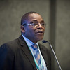 48th Union World Conference on Lung Health, Guadalajara, organised by the International Union Against Tuberculosis and Lung Disease.<br /> Photo©Marcus Rose/The Union<br /> Photo Shows Jeremiah Chakaya Muhwa, The Union's President, speaking at the General Assembly Membership Meeting and Vote.