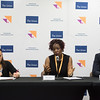 48th Union World Conference on Lung Health, Guadalajara, organised by the International Union Against Tuberculosis and Lung Disease.<br /> Photo©Marcus Rose/The Union<br /> Photo Shows: Official Press Conference. L-R: Chair: Dr Paula Fujiwara, Scientific Director, The Union, AKK Luabeya, University of Cape Town, SA, Pierre-Alain Rubbo, Omunis, Montpelier, France.