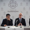 48th Union World Conference on Lung Health, Guadalajara, organised by the International Union Against Tuberculosis and Lung Disease.<br /> Photo©Marcus Rose/The Union<br /> Photo Shows: Press Conference at the Palacio Municipal, Hidalgo, Announcing Guadalajara's new project with the Bloomberg Philanthropies' Partnership for Healthy Cities.<br /> L-R: Adam Karpati, Hugo Luna Vazquez, Jose Luis Castro, Fernando Pettersen Aranguren.