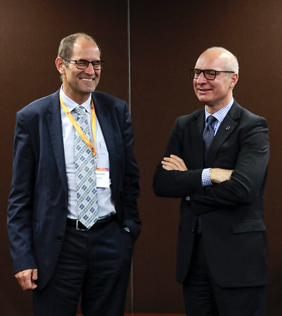 The 48th Union World Conference on Lung Health, Guadalajara, Mexico.<br /> Photo shows Dr. Christoph Benn, Director of External Relations of The Global Fund, and José Luis Castro, Executive Director of The Union.<br /> Photo by Javier Galeano / The Union