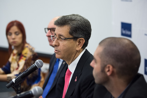 48th Union World Conference on Lung Health, Guadalajara, organised by the International Union Against Tuberculosis and Lung Disease.<br /> Dr Pablo Antonio Kuri Morales, Undersecretary for Prevention and Health Promotion, Mexico, speaking at the Official Opening Press Conference about Glycemic Control and the Prevalence of Latent TB Infection – a population-based study<br /> Photo©Marcus Rose/The Union