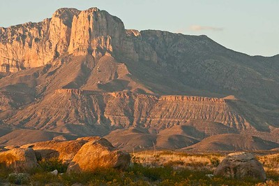 El Capitan at sunset from Wilson Ranch, Texas