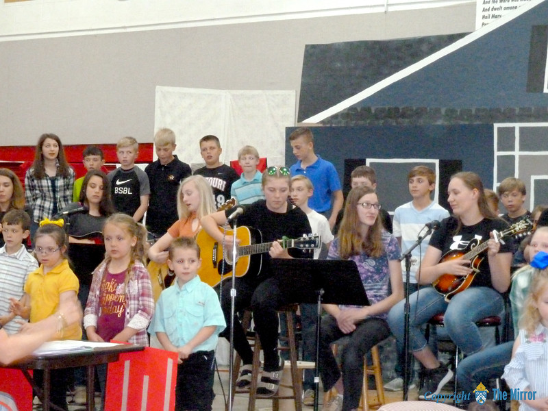 "Guardian Angel students performed ""Down Home"" for everyone's enjoyment. (<i>The Mirror</i>)"