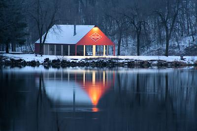 """Not so long ago"" Lake Grace Jonathan December 12x18 mat 16x20 print value $45.00"