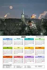 12x18 2020 Calendar print value $10.00