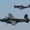 North American B-25N Mitchell and P-51D