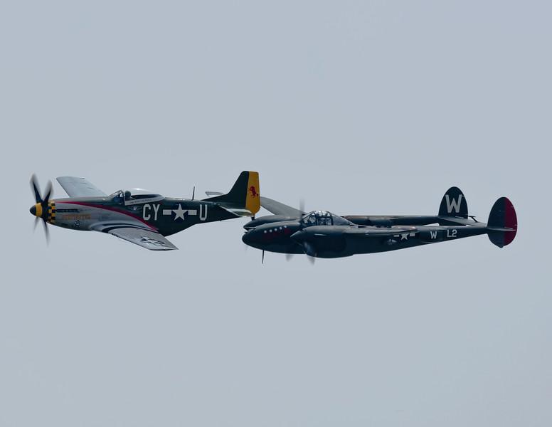 P-38 Scat III and P-51 Gunfighter