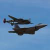 P-38 Scat III and F-22 Raptor