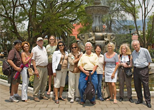 Group shot in Antigua.