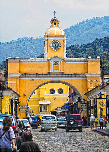 Historic La Antigua, Guatemala. Founded in 1543 and destroyed by 3 earthquakes, it became a World Heritage site in 1979.