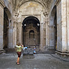 Carol taking a picture of the monument to this catedral.