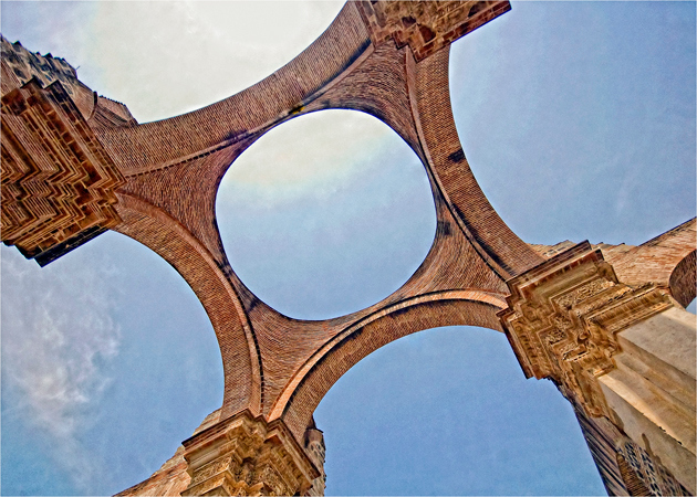 One of the open ceilings at the ruins of the great Catedral.