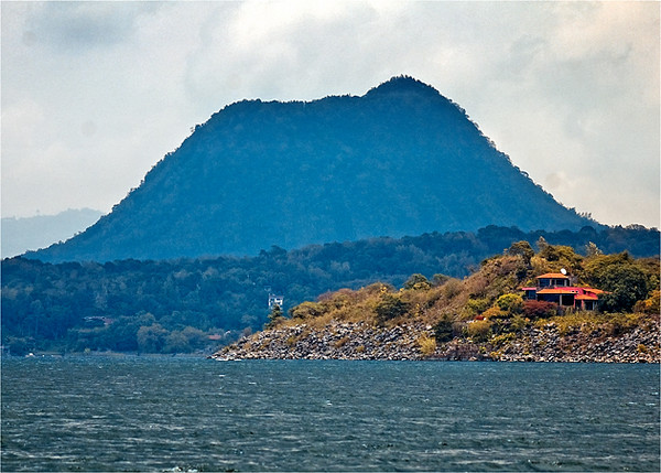 Volcano de Oro. The youngest volcano surrounding Lake Atitlan.