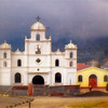 Same village church shot on our way to Lake Atitlan.. Original image. Another 'drive-by-shooting' from the minivan. Hence the slight out-of-focus.