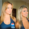The women of Pepsi representing the countries of Brazil and Peru.