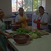 Kitchen staff making lunch